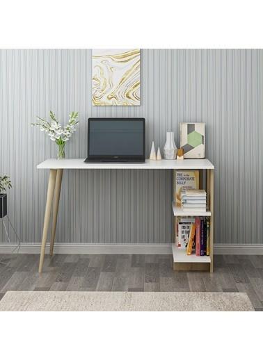 DemonteDekor Elas Çalışma Masası - Beyaz Safirmeşe Renkli